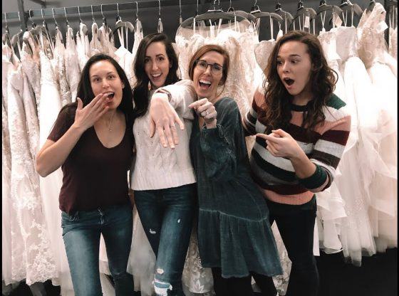 Trying On Wedding Dresses And Bridesmaid Dress Shopping In Austin Tx